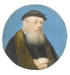 German school, 16th century, Portrait of a bearded man