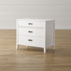 Arch White 3-Drawer Chest | Crate and Barrel