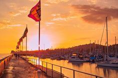 Santa Barbara Harbor at Sunset