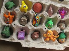 Polymer clay finger puppets for the upcoming craft fair! #crafts DIY .