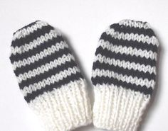 Here is a free pattern for mittens in a newborn size:  Material:  DK yarn, remnants  Needles: 3 ½ mm/ US 4/UK 9  Abbreviations:   K  = knit...