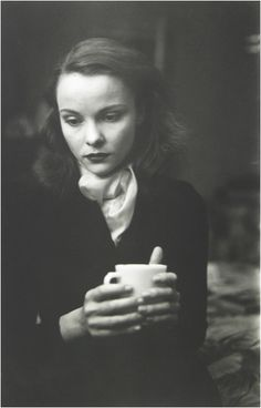 kvetchlandia:  Saul Leiter       Jean with Cup, New York City     1948