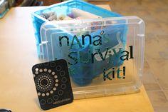 expecting grandmother gift. nana's survival kit.