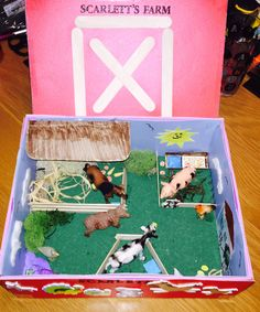 Shoebox Farm. Creative ideas for kids home play, school projects and education!