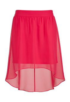 teaberry high-low chiffon skirt - maurices.com