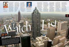Atlanta Business Magazine Editorial Design