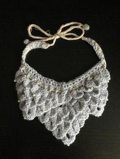 Crocodile Stitch Bib Necklace