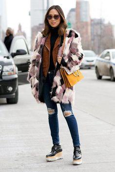 How To Rock A Fur Patchwork Coat