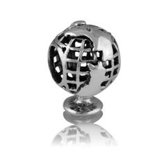 NZ Globe | NZ Silver Bracelet Charms - evolve-jewellery.co.nz