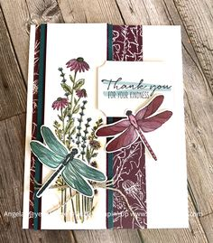 Butterfly Cards, Flower Cards, Dragon Garden, Stampin Up Catalog, Stamping Up Cards, Sympathy Cards, Paper Cards, Creative Cards, Greeting Cards Handmade