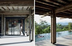 Langkawi House by Building Bloc Tropical Architecture, Wood Architecture, Timber Posts, Timber Buildings, Country Lifestyle, House Deck, Kitchen Benches, Pergola, Outdoor Structures