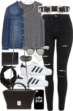 Style Selection Fashion Blog | Outfits and Advice • Outfit for university with a western belt and...