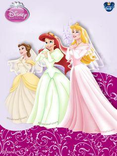 Princess Brides - Belle, Ariel & Aurora