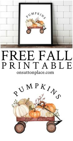 Free Fall Printables - Over 70 Banners, Gift Tags, & Prints Wine Bottle Crafts, Mason Jar Crafts, Mason Jar Diy, Diy Home Decor Projects, Diy Projects To Try, Succulent Garden Diy Indoor, Diy Hanging Shelves, Fall Diy, Pumpkin Decorating