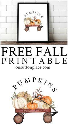 Free Fall Printables - Over 70 Banners, Gift Tags, & Prints Mason Jar Crafts, Mason Jar Diy, Diy Home Decor Projects, Diy Projects To Try, Succulent Garden Diy Indoor, Fall Diy, Pumpkin Decorating, Diy Wall Art, Fall Crafts