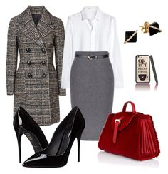 """""""Just another day in the Office"""" by two-faced-honey ❤ liked on Polyvore featuring Topshop, Yves Saint Laurent, Meli Melo, Dolce&Gabbana and Madyha Farooqui"""