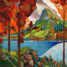 Really like this by David Galchutt - across the lake.