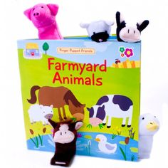 Finger Puppet Book Farmyard Animals From Green Ant Toys Online www.greenanttoys.com.au      http://www.greenanttoys.com.au/shop-online/baby-toddler-toys/finger-puppet-book-farmyard/