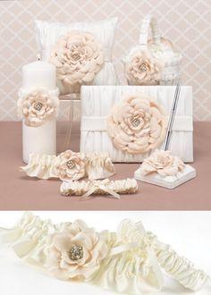 Hortense B. Hewitt Love Blooms Wedding Accessories, Garter Set