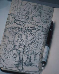 Artist Sketchbook, Sketchbook Pages, Art Sketches, Art Drawings, Drawing Faces, Character Art, Character Design, Monochromatic Art, Sketchbook Inspiration