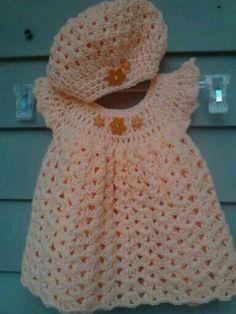 38 Super Ideas For Baby Dress Pattern Crochet Angel Wings Crochet Bebe, Baby Girl Crochet, Crochet Baby Clothes, Crochet For Kids, Knit Crochet, Crochet Hats, Crochet Baby Dresses, Baby Patterns, Crochet Patterns