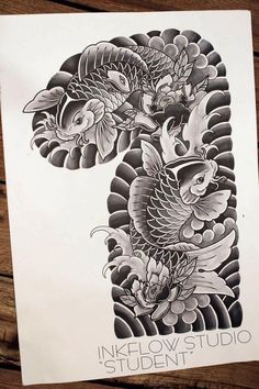 Japanese Koi Fish Tattoo, Japanese Tattoo Designs, Japanese Sleeve Tattoos, Tattoo Drawings, Body Art Tattoos, Koi Tattoo Design, Koi Art, Japan Tattoo, Oriental Tattoo