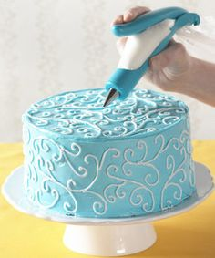 """""""Nordic Ware 01086 E-Z Deco Icing Pen by Nordic Ware at BakeDeco. Shop for Nordic Ware 01086 E-Z Deco Icing Pen from Pastry / Dessert Decorators at affordable prices. Cake Decorating Tips, Cookie Decorating, Decorating Supplies, Beautiful Cakes, Amazing Cakes, Cake Cookies, Cupcake Cakes, How To Make Icing, Salty Cake"""