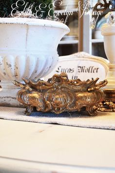 Antique Brass Jardiniere French Victorian by edithandevelyn on Etsy