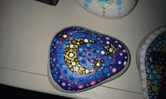 painted mandala moon stone
