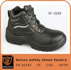 men's genuine leather high heel mining safety shoes steel toe with ce certification SC-2245