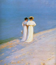 Peder Severin Krøyer - Summer evening on the skagen summer beach