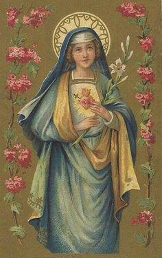 Religious Images, Religious Icons, Religious Art, Blessed Mother Mary, Blessed Virgin Mary, Catholic Art, Catholic Saints, Mama Mary, Mary 1