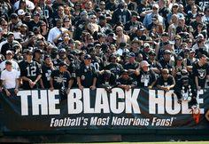 Oakland Raiders fan section...'The Black Hole'