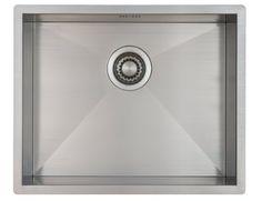 Kitchen Sink Mizzo Design 50 cm - One/Single Bowl Square Stainless Steel Kitchen Sink- for Both undermount and flushmount Installation - Satin Finish cm) Kitchen Taps, Undermount Sink, Home Appliances, Stainless Steel, Satin Finish, Montage, Angles, Design, Trough Sink