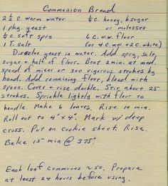 Communion Bread | From my mom's recipe collection. | Phil! Gold | Flickr