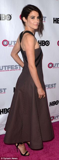 Cobie Smulders looks chic at Outfest LA premiere of new movie The Intervention | Daily Mail Online 7th July 2016