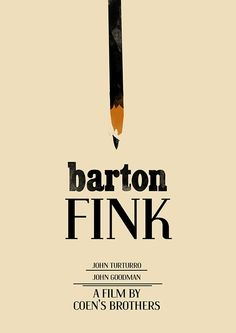 Poster of Barton Fink on Behance