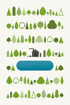 walden poster | Jez Burrows Auf cdn.poketo.com http://www.pinterest.com/popupshop/art-illustration/