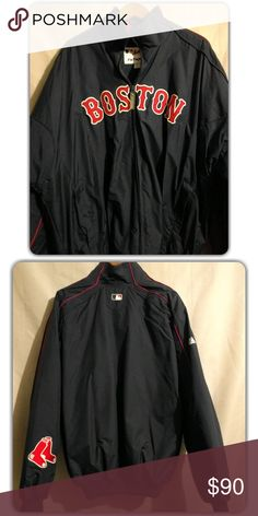 Mens XL Majestic Boston Red Sox Full Zip Up Jacket Pre-owned excellent condition, hardly worn. Insulated thermal full zip up jacket Majestic Jackets & Coats Performance Jackets