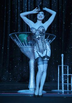 Dita Von Teese performs her Swarovski Martini act on opening night of Burlesque: Strip Strip Hooray! on Wednesday, June 19th, 2013 at the House of Blues in LA. Photo taken by Todd Williamson.