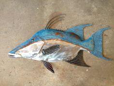 Hogfish Metal Wall  Fish sculpture Tropical by SallenbachFishArt