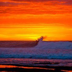 Sunset surf #surfing