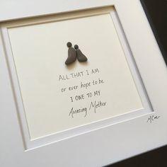 Perfecte gift voor die geweldige moeder in je leven. 10 x 10 zwart frame met dubbele witte matte.