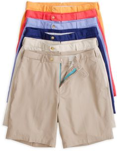 292b46ee9f0 Lightweight Cotton Shorts with Contrast Fly