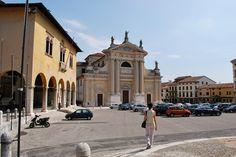 Square and Church - A square in Belluno, Veneto, Italy. City Architecture, Street View, Italy, Italia