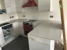Bianco De Lusso - Trio of kitchens - Rickmansworth, Herts - Rock and Co Granite Ltd Layout, Kitchen, Home Decor, Cooking, Decoration Home, Page Layout, Room Decor, Kitchens, Cuisine