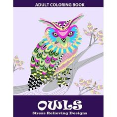 Owls Coloring Book Relaxation Series Adult Books For Grown Ups