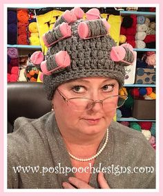 Ravelry: Oma's Curlers Hat FREE Crochet pattern by Sara Sach