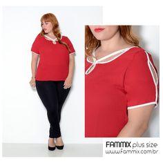 REF. 10427 - Esta blusa veste super bem e os detalhes estão super delicados e sofisticado. Confiram em www.fammix.com.br #fammix #modagrande #modafeminina #plussize #plussizefashion #plussizebrasil