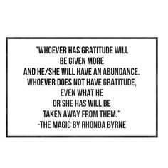"""#40DaysOfGratitude- I normally work while I eat lunch. Today I decided to take a break to read. I went back to one of my favorite books on gratitude: """"The Magic"""" by @rhonda_byrne.  In this quote from the image attached she's clarifying a misconception found in the Bible that has lead people to believe it was saying """"the rich get richer the poor get poorer."""" There was one missing word that made the passage seem cryptic. GRATITUDE. This is also the missing link to abundance.  To get this book…"""